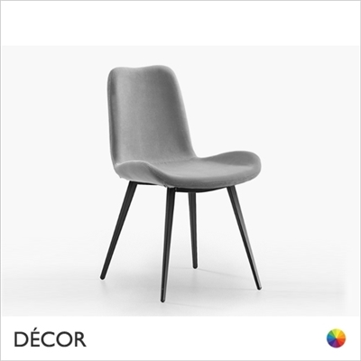 DALIA DINING CHAIR WITH TAPERED METAL LEGS