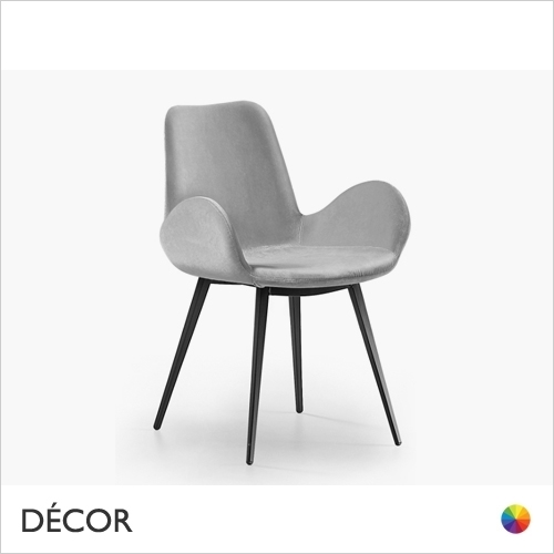 DALIA CHAIR WITH ARMRESTS & TAPERED METAL LEGS