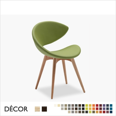 TWIST CHAIR WOOD, ECO LEATHER