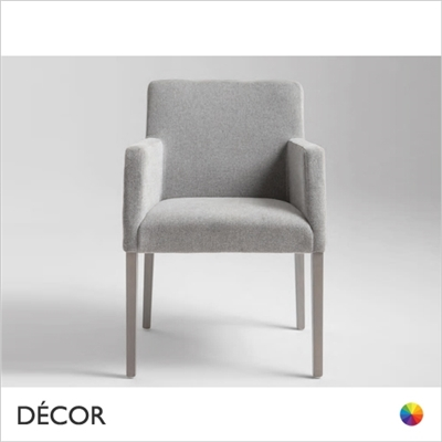 MISS CHAIR WITH UPHOLSTERED ARMRESTS, ECO LEATHER & DESIGNER FABRICS
