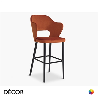 PAGE BAR STOOL, ECO LEATHER & DESIGNER FABRICS