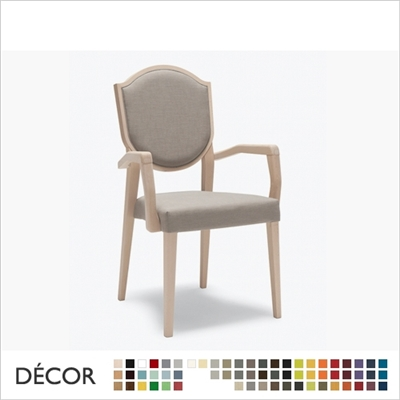 BLASON SOFT CHAIR WITH ARMRESTS, STACKABLE