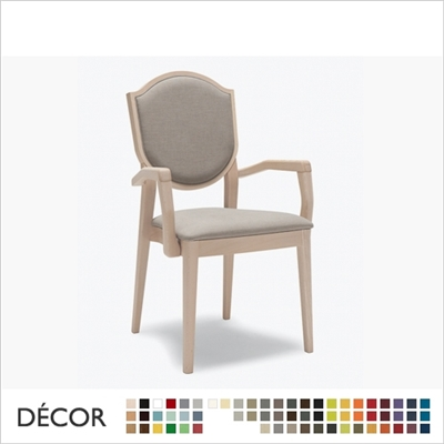 BLASON CHAIR WITH ARMRESTS, STACKABLE