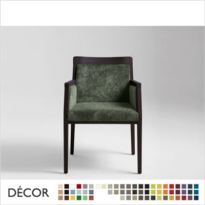 BOHEME CHAIR WITH CLOSED ARMRESTS, ECO LEATHER, ECO SUEDE OR FABRIC
