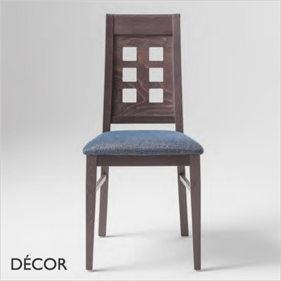 CATIA CHAIR, ECO LEATHER & DESIGNER FABRICS