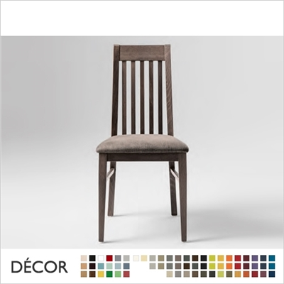 CLARA CHAIR, ECO LEATHER & DESIGNER FABRICS
