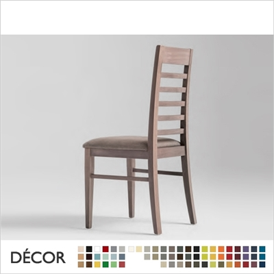 CORINNE CHAIR, ECO LEATHER & DESIGNER FABRICS