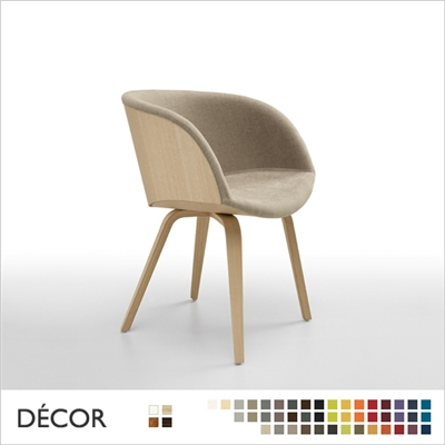 DANNY TUB CHAIR WITH ARMRESTS, WOOD, REAL LEATHER, ECO LEATHER & DESIGNER FABRICS