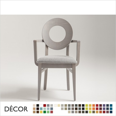 DEA CHAIR WITH ARMRESTS, ECO LEATHER & DESIGNER FABRICS