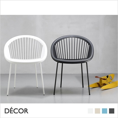 GIULIA CHAIR, COATED LEGS