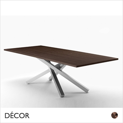 PECHINO FIXED TOP TABLE, DARK OAK VENEER