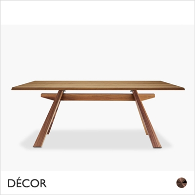 ZEUS DINING TABLE, WOOD, WALNUT VENEER OR SOLID WALNUT