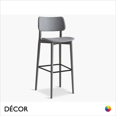 ULI BAR STOOL, ECO LEATHER & DESIGNER FABRICS