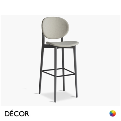 DAME BAR STOOL, ECO LEATHER & DESIGNER FABRICS