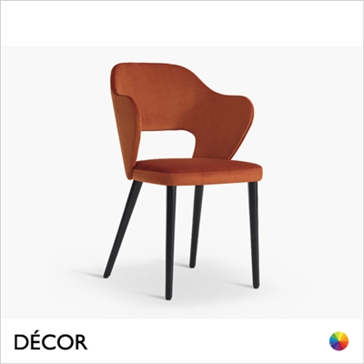 QUINN DINING CHAIR, ECO LEATHER & DESIGNER FABRICS