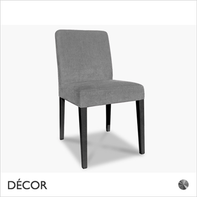 MISS CHAIR, GREY VELVET OR GREY ECO-LEATHER