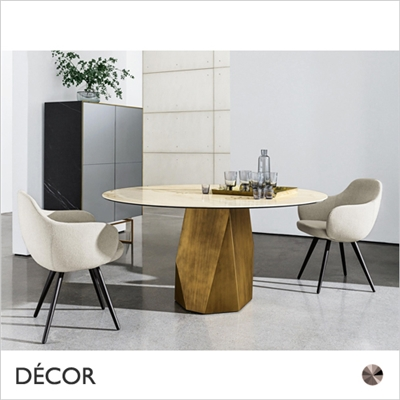 DEOD DINING TABLE, ROUND & SQUARE, CERAMIC TOP