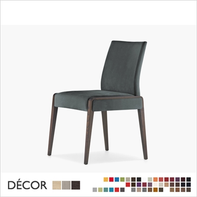 JIL CHAIR, WOOD, ECO LEATHER, FABRIC, WOOL