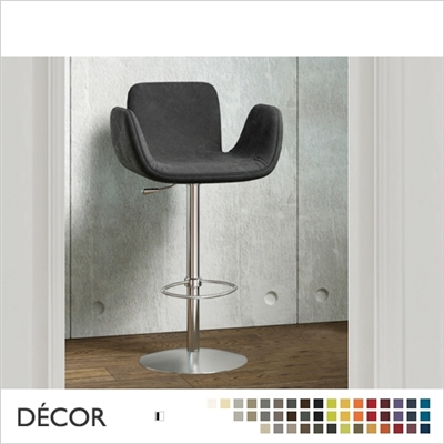 LIGHT BARSTOOL, ECO LEATHER,