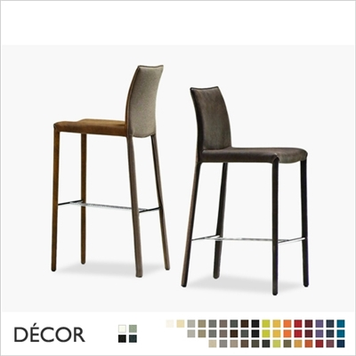 NUVOLA BARSTOOL, REAL LEATHER, ECO LEATHER & DESIGNER FABRICS