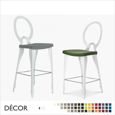 REVOLUTION BARSTOOL, OPEN BACK,  ECO LEATHER