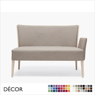 NOB DINING SOFA WITH ARMRESTS