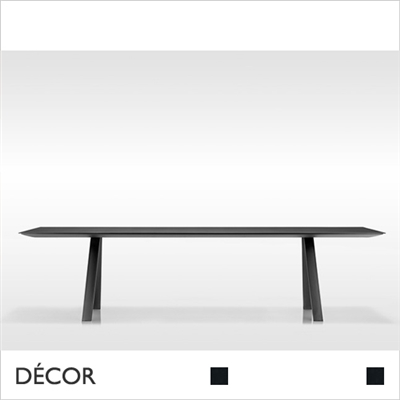 ARKI RECTANGULAR TABLE, BLACK, SOLID LAMINATE TOP