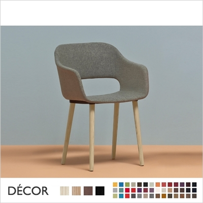 BABILA SOFT CHAIR WITH ARMRESTS, ASH LEGS