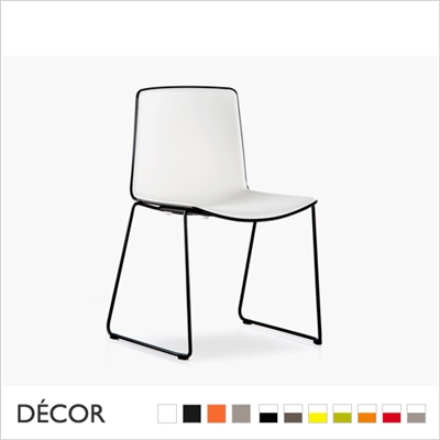 TWEET CHAIR, BICOLOUR & MONO COLOUR, SLEDGE FRAME