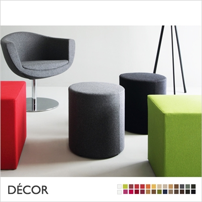 WOW POUF, ROUND, SMALL, FABRIC, ECO LEATHER