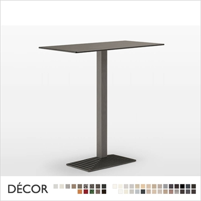 STEP BAR HEIGHT TABLE BASE, RECTANGULAR