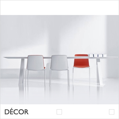 ARKI RECTANGULAR TABLE, WHITE, SOLID LAMINATE TOP