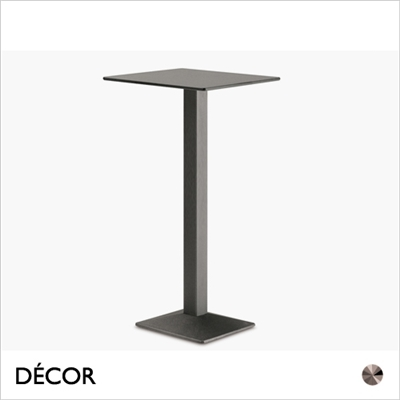 QUADRA TABLE BASE, SQUARE, BAR HEIGHT