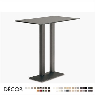 QUADRA TWIN BAR HEIGHT TABLE BASE, RECTANGULAR