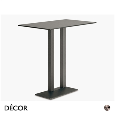 QUADRA TABLE BASE, TWIN COLUMN RECTANGULAR, BAR HEIGHT