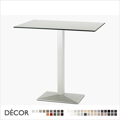 QUADRA BAR HEIGHT TABLE BASE, RECTANGULAR