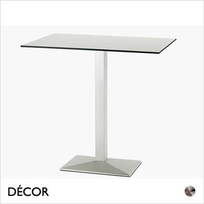 QUADRA TABLE BASE, RECTANGULAR, BAR HEIGHT