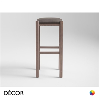 RUSTICA BAR STOOL, ECO LEATHER & DESIGNER FABRICS