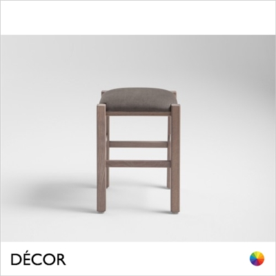RUSTICA LOW STOOL, ECO LEATHER & DESIGNER FABRICS