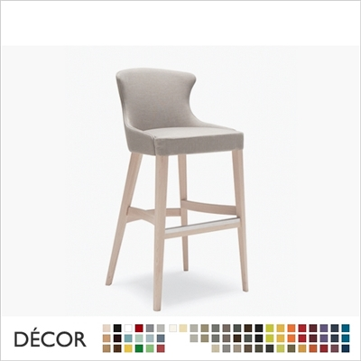 AGATHA BARSTOOL, ECO LEATHER & DESIGNER FABRICS
