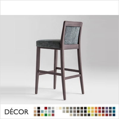 BOHEME BARSTOOL, ECO LEATHER & DESIGNER FABRICS