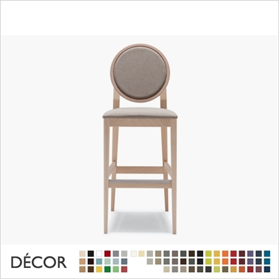 MEDAILLON BARSTOOL, ECO LEATHER & DESIGNER FABRICS