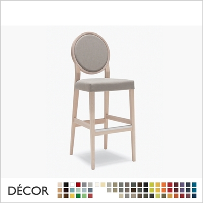 MEDAILLON SOFT BARSTOOL, ECO LEATHER & DESIGNER FABRICS