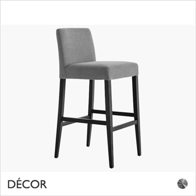 MISS BARSTOOL, GREY VELVET OR GREY ECO-LEATHER
