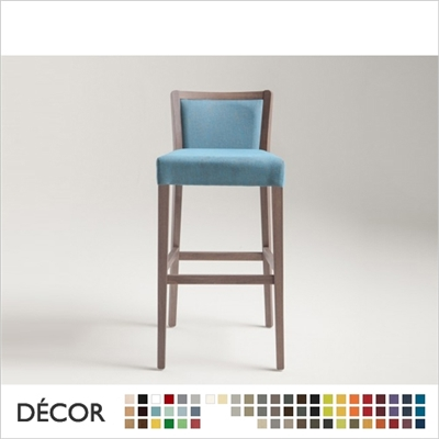 MOMA SOFT BARSTOOL, ECO LEATHER & DESIGNER FABRICS