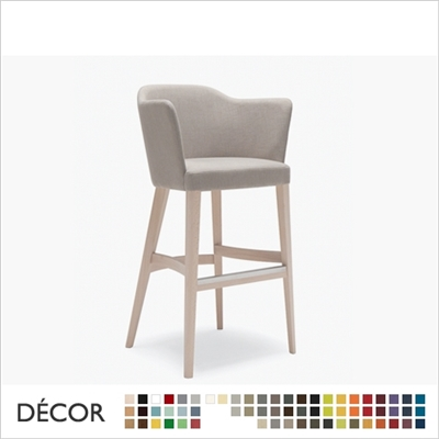 TRUEMAN BARSTOOL,  ECO LEATHER & DESIGNER FABRICS