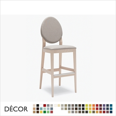 VICTORIA BARSTOOL,  ECO LEATHER & DESIGNER FABRICS