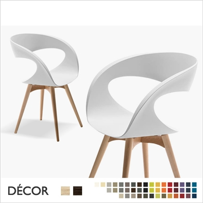 RAFF CHAIR WOOD, ECO LEATHER