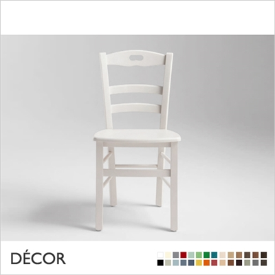 ATENA CHAIR, WOODEN SEAT