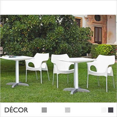 DODO TABLE BASE, CROSS, POLYPROPYLENE TOP